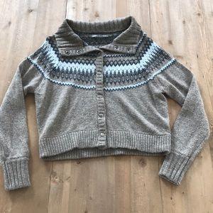 Brown chevron sweater
